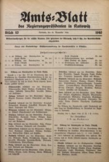Amts-Blatt des Regierungspräsidenten in Kattowitz, 1940, St. 43