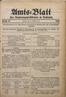 Amts-Blatt des Regierungspräsidenten in Kattowitz, 1940, St. 45