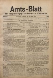 Amts-Blatt des Regierungspräsidenten in Kattowitz, 1942, St. 4