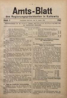 Amts-Blatt des Regierungspräsidenten in Kattowitz, 1942, St. 5