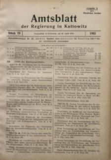 Amtsblatt der Regierung in Kattowitz, 1942, St. 19