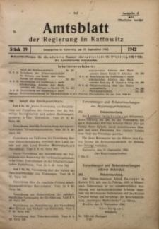 Amtsblatt der Regierung in Kattowitz, 1942, St. 39