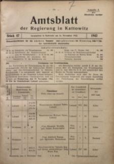 Amtsblatt der Regierung in Kattowitz, 1942, St. 47
