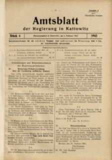 Amtsblatt der Regierung in Kattowitz, 1943, St. 6