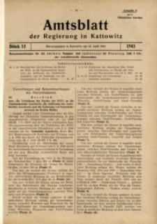 Amtsblatt der Regierung in Kattowitz, 1943, St. 15