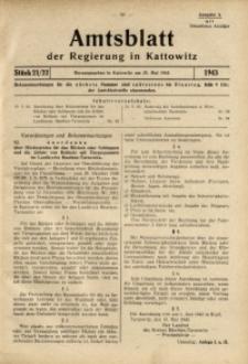 Amtsblatt der Regierung in Kattowitz, 1943, St. 21/22