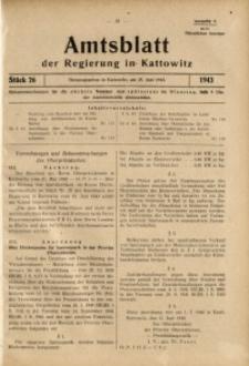 Amtsblatt der Regierung in Kattowitz, 1943, St. 26