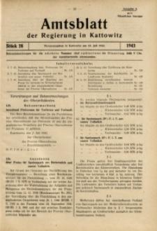 Amtsblatt der Regierung in Kattowitz, 1943, St. 28