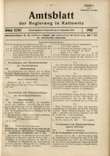 Amtsblatt der Regierung in Kattowitz, 1943, St. 37/38