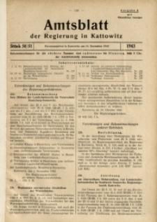 Amtsblatt der Regierung in Kattowitz, 1943, St. 50/51