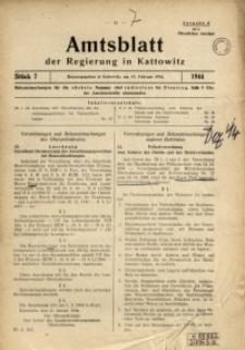 Amtsblatt der Regierung in Kattowitz, 1944, St. 7