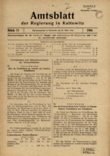 Amtsblatt der Regierung in Kattowitz, 1944, St. 11