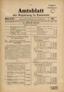 Amtsblatt der Regierung in Kattowitz, 1944, St. 43/44