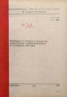 Informacja o Sytuacji w Rolnictwie Województwa Częstochowskiego w IV Kwartale1987 Roku