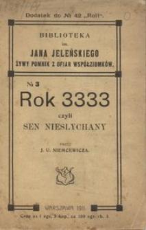 Rok 3333 czyli Sen niesłychany