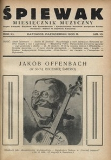 Śpiewak, 1930, R. 11, nr 10