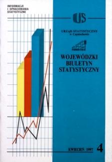 Wojewódzki Biuletyn Statystyczny, 1997, nr 4