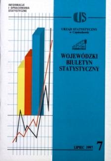 Wojewódzki Biuletyn Statystyczny, 1997, nr 7