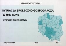 Sytuacja społeczno-gospodarcza w 1997 roku. Wybrane województwa