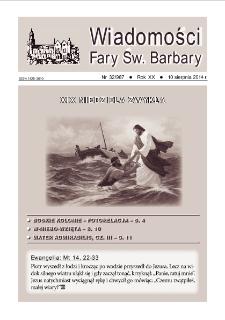 Wiadomości Fary Św. Barbary, 2014, R. 20, nr 32