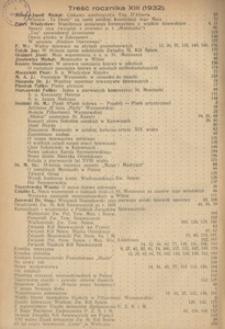 Śpiewak, 1932, R. 13, Treść rocznika