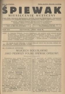 Śpiewak, 1932, R. 13, nr 7