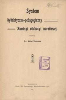 System dydaktyczno-pedagogiczny Komisyi edukacyi narodowej