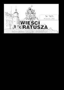 Wieści z Ratusza, 2003, nr7 (67)