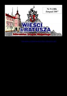 Wieści z Ratusza, 2007, nr9 (108)