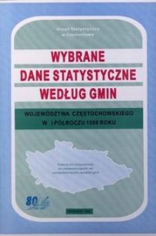 Wybrane dane statystyczne według miast i gmin województwa częstochowskiego w I półroczu 1998 roku