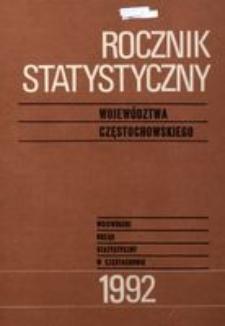 Rocznik Statystyczny Województwa Częstochowskiego. Rok 10 [właśc. 11] (1992)