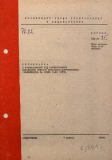 Informacja o Kształtowaniu się Syntetycznych Wskaźników Rozwoju Społeczno-Gospodarczego Województwa za Okres I-II 1983 R.