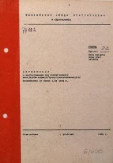Informacja o Kształtowaniu się Syntetycznych Wskaźników Rozwoju Społeczno-Gospodarczego Województwa za Okres I-XI 1983 R.