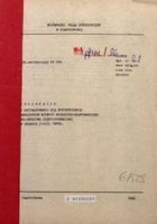 Informacja o Kształtowaniu się Syntetycznych Wskaźników Rozwoju Społeczno-Gospodarczego Województwa Częstochowskiego za Okres I-VIII 1986 R.