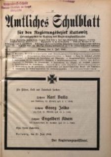 Amtliches Schulblatt für den Regierungsbezirk Kattowitz, 1940, Jg. 1, Nr. 7