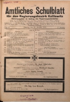 Amtliches Schulblatt für den Regierungsbezirk Kattowitz, 1941, Jg. 2, Folge 21