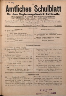 Amtliches Schulblatt für den Regierungsbezirk Kattowitz, 1942, Jg. 3, Folge 23
