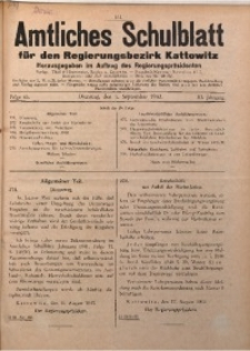 Amtliches Schulblatt für den Regierungsbezirk Kattowitz, 1942, Jg. 3, Folge 25