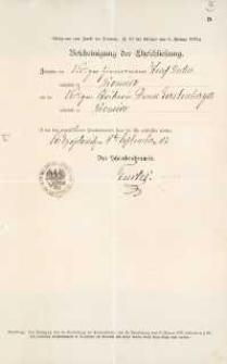 Akt zawarcia małżeństwa z 8.09.1903 r.