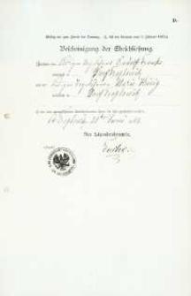 Akt zawarcia małżeństwa z 21.06.1903 r.