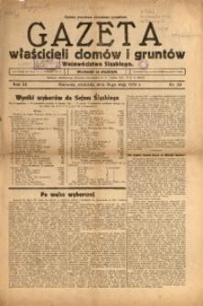 Gazeta Właścicieli Domów i Gruntów Województwa Śląskiego, 1930, R. 3, nr 20