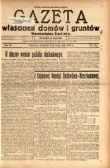 Gazeta Właścicieli Domów i Gruntów Województwa Śląskiego, 1931, R. 4, nr 22
