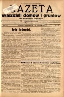 Gazeta Właścicieli Domów i Gruntów Województwa Śląskiego, 1931, R. 4, nr 45