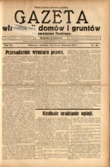 Gazeta Właścicieli Domów i Gruntów Województwa Śląskiego, 1931, R. 4, nr 48