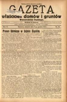 Gazeta Właścicieli Domów i Gruntów Województwa Śląskiego, 1931, R. 4, nr 50