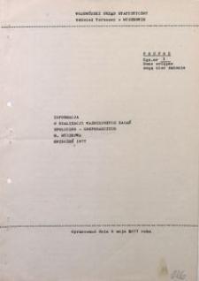 Informacja o realizacji ważniejszych zadań społeczno-gospodarczych m. Myszkowa, kwiecień 1977