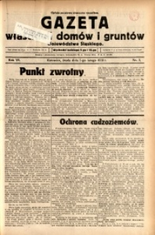 Gazeta Właścicieli Domów i Gruntów Województwa Śląskiego, 1933, R. 6, nr 3