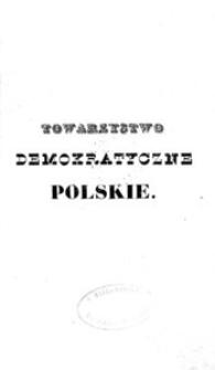 Manifest Towarzystwa Demokratycznego Polskiego.