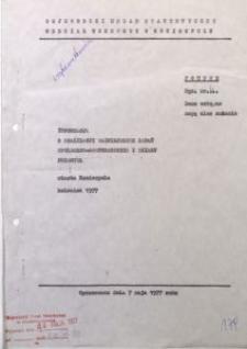 Informacja o realizacji ważniejszych zadań społeczno-gospodarczych z działu przemysł miasta Koniecpola, kwiecień 1977