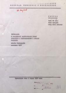 Informacja o realizacji ważniejszych zadań społeczno-gospodarczych z działu przemysł miasta Koniecpola, czerwiec 1977